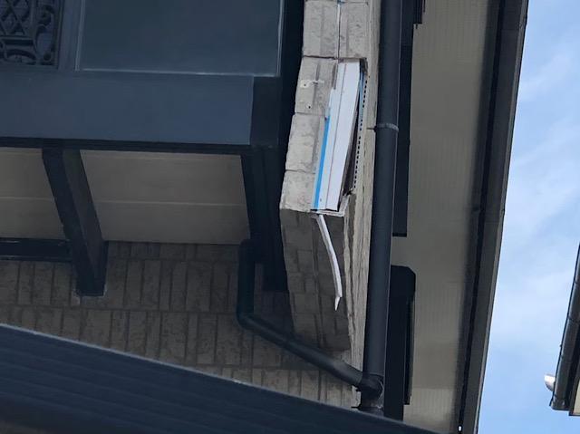 岐阜市で外壁のサイディングの一部が完全に取れてしまって下地が見えている現場調査へ!!