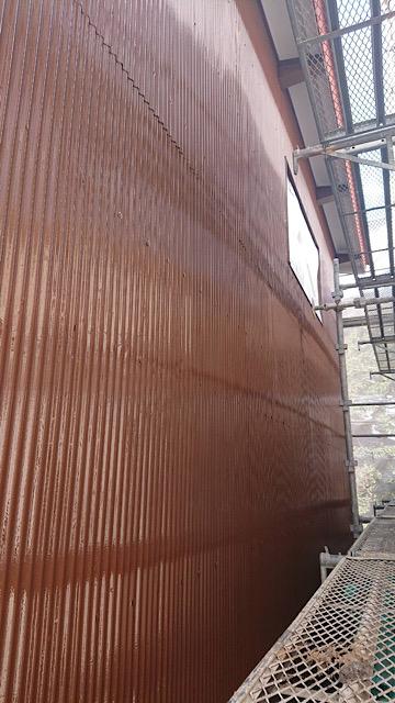 波板の板金塗装