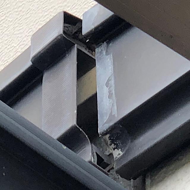 外壁の帯の劣化