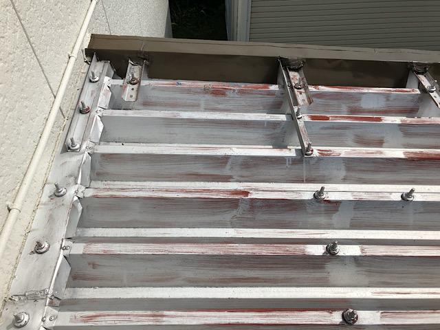屋根板金塗膜の劣化