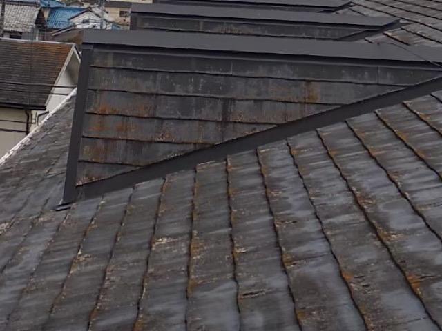 スレート屋根がサビている