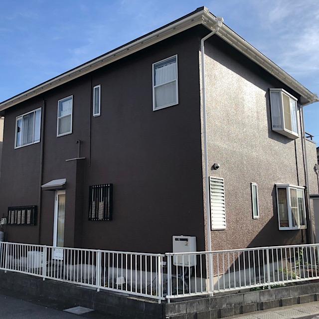 神戸町で屋根カバー工法、外壁塗装工事完成写真