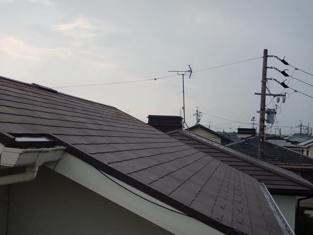 色あせしている屋根