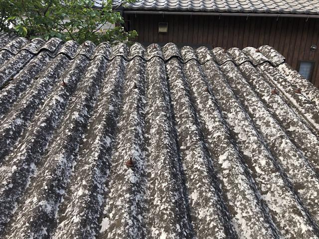 揖斐郡池田町でスレート屋根に板金を被せました