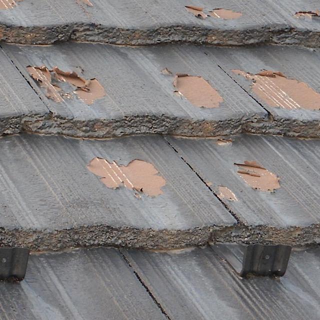 屋根の塗装の施工がしっかりしていない現場