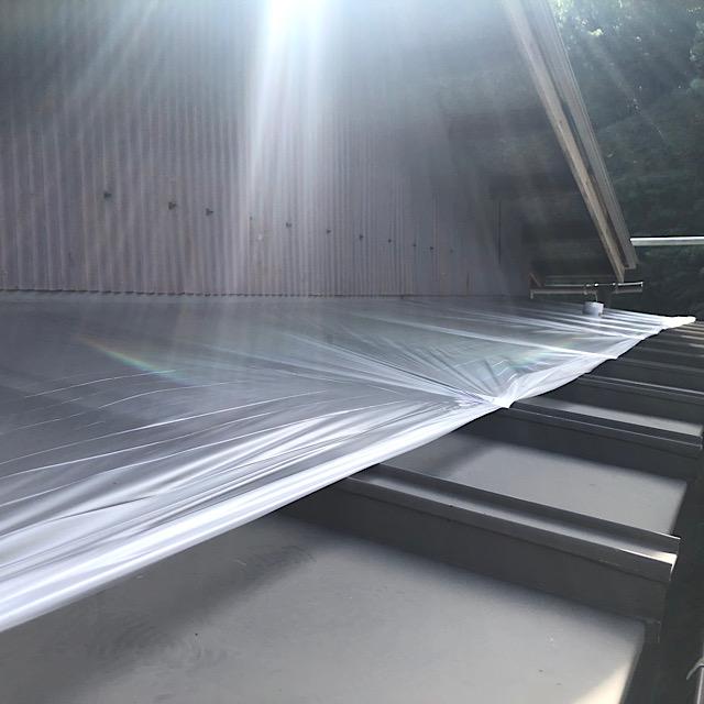 外壁塗装の屋根養生