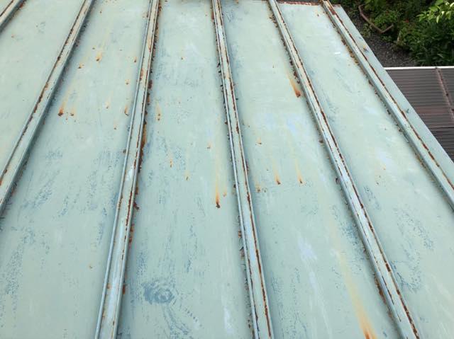 瓦棒屋根が劣化