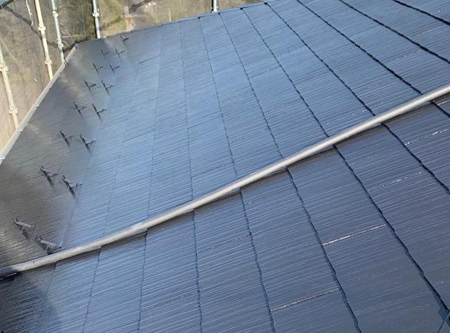 屋根塗装上塗りしました