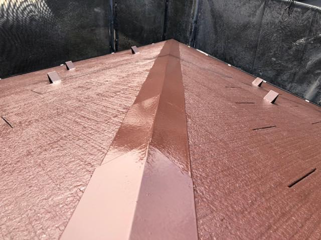 屋根の施工後