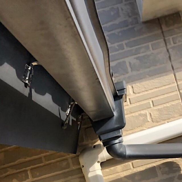 岐阜市の樋が曲がっているのとベランダの小窓からの雨漏れが酷い現場調査へ!!
