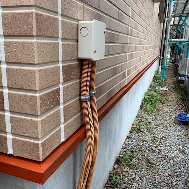 羽島市で水切り部分を錆止め下取り工事