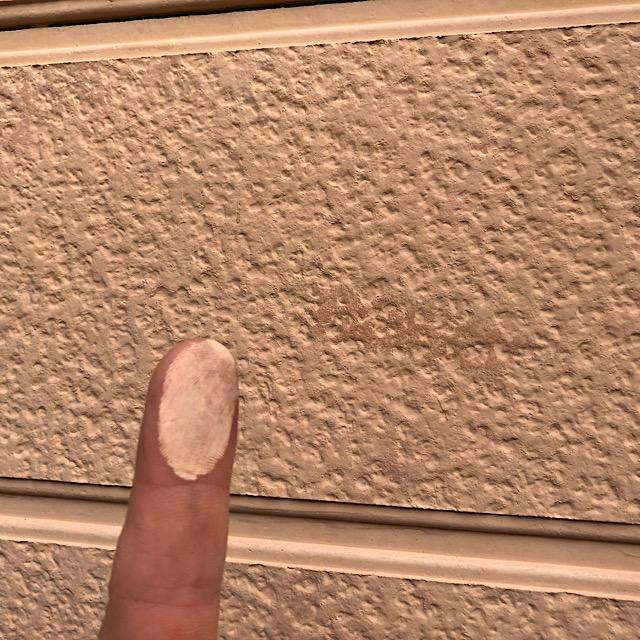 外壁サイディングから粉が出た