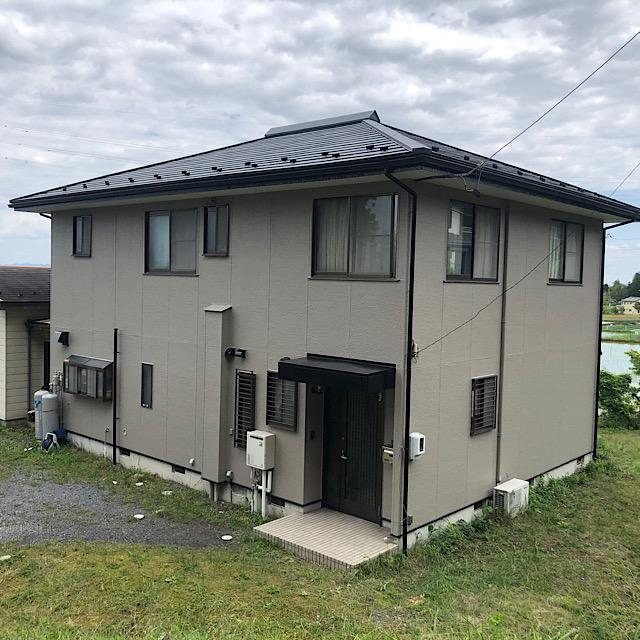 池田町で外壁塗装工事と屋根塗装工事