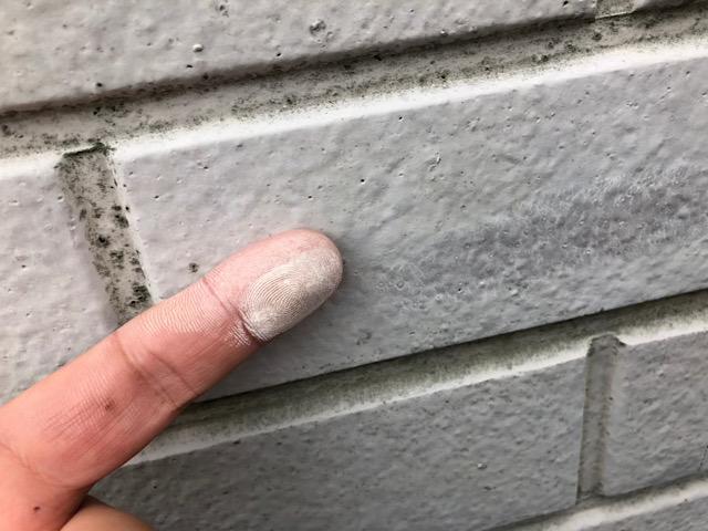 付着した塗料の粉