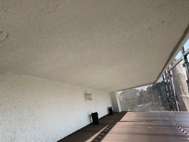 軒の塗装完了