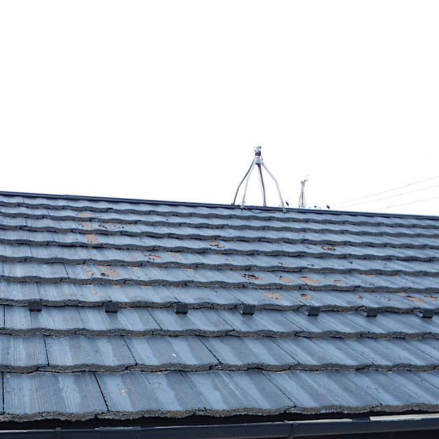 屋根の塗装がめくれてしまった現場