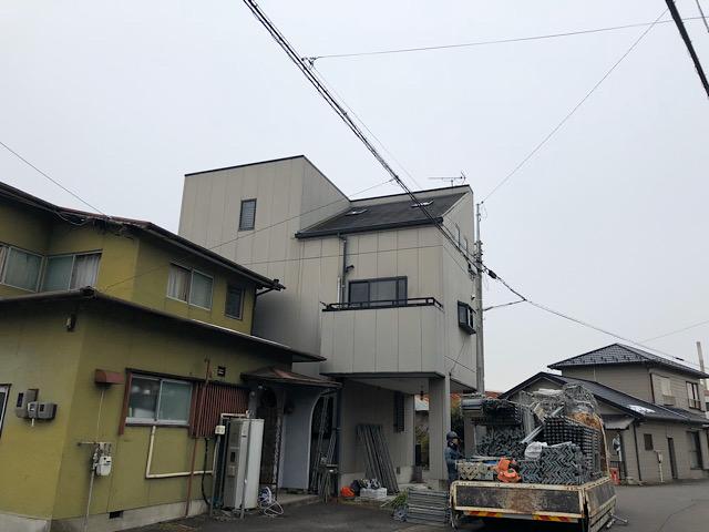 岐阜市で外壁塗装工事と防水工事