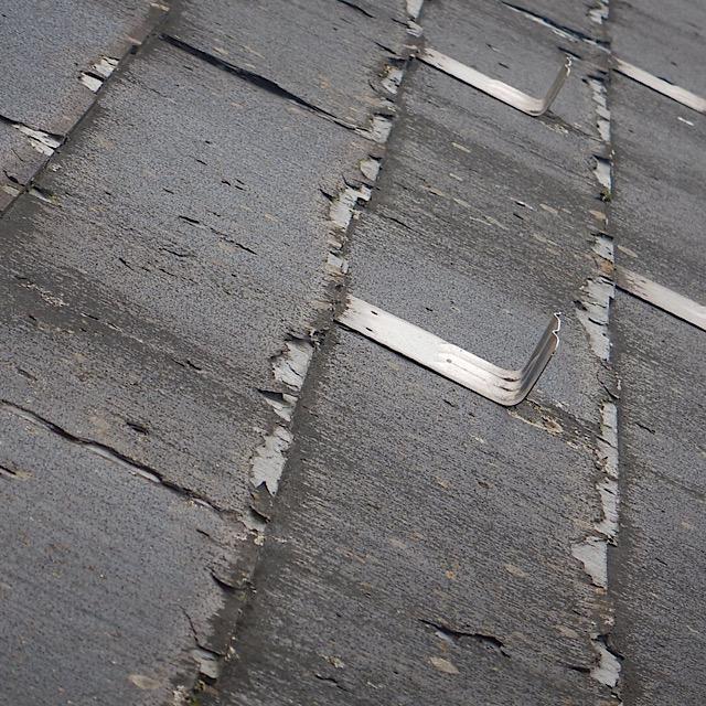 塗装工事では対応できない屋根