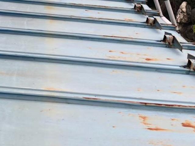 瓦棒屋根のさび