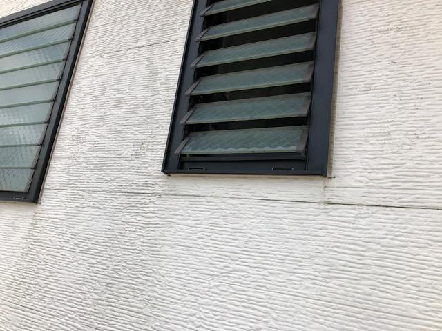 サッシ回りの外壁の汚れ