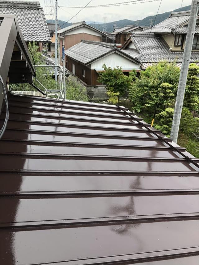 塗装した瓦棒屋根