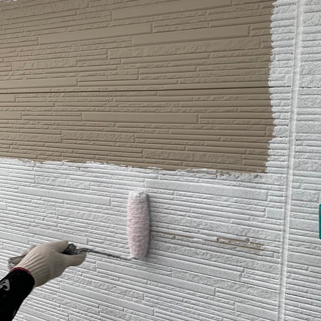 羽島市で外壁塗装下塗り