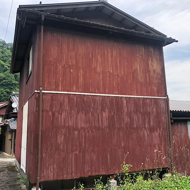 車庫外壁塗装工事
