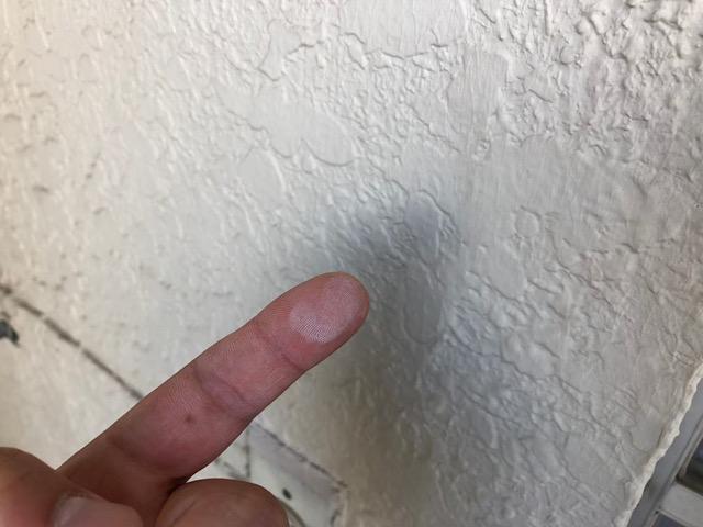 指に粉がつきました