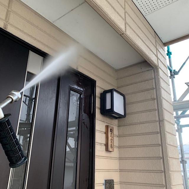 外壁塗装の高水圧洗浄