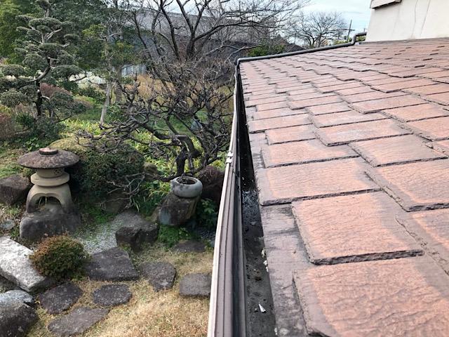 屋根の色が変わってる