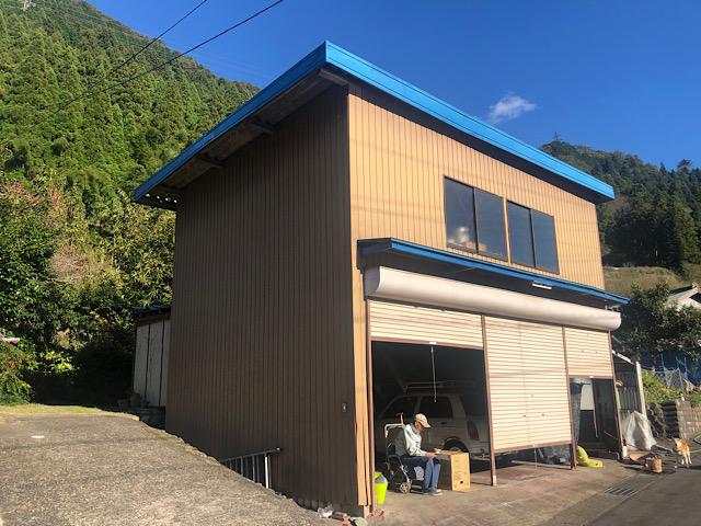 車庫のサビを止める塗装