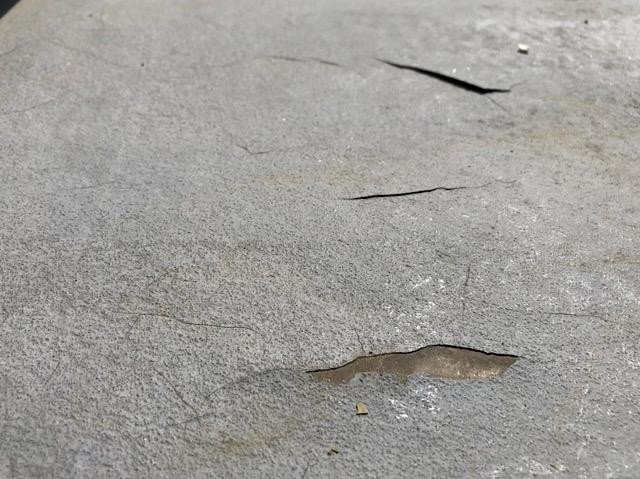ベランダ床のめくり