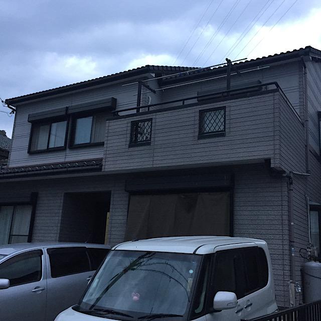 安八郡神戸町で塗装工事前の写真