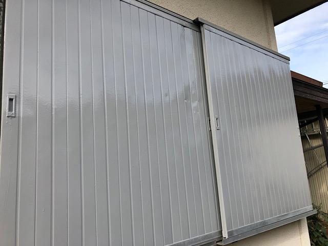 雨戸塗装の完成