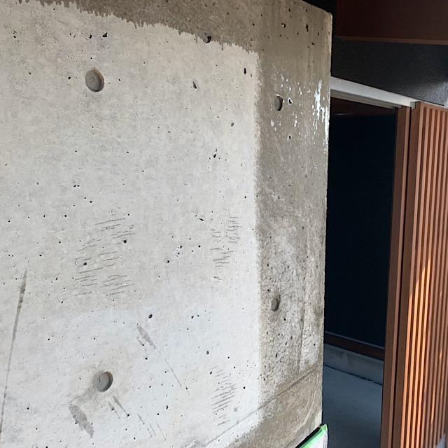 玄関横コンクリート部分の外壁塗装工事