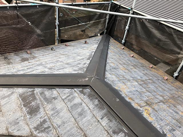 屋根板金部洗浄後