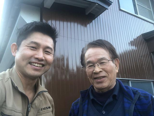 池田町で外壁塗装工事を行った川本様よりお喜びの声をいただきました