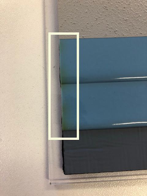 防水材の変色