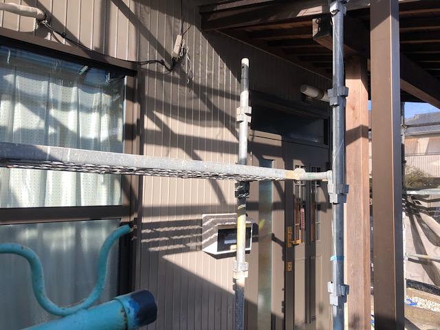 玄関板金塗装工事