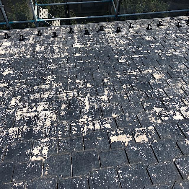 屋根の塗料が剥がれた