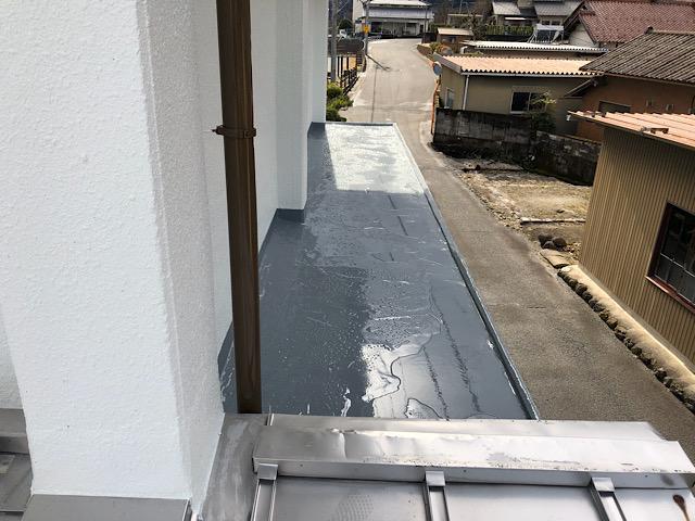 軒の上の防水工事