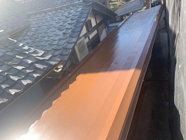綺麗になった板金屋根