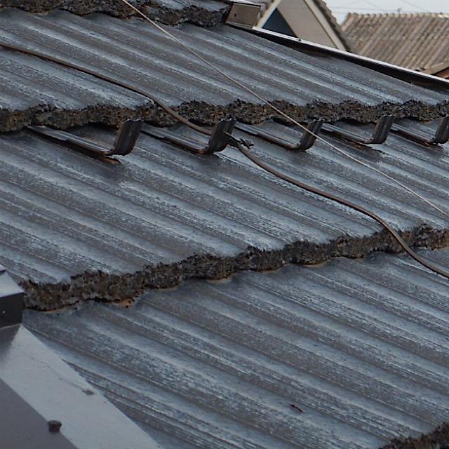 屋根塗装工事前の現場