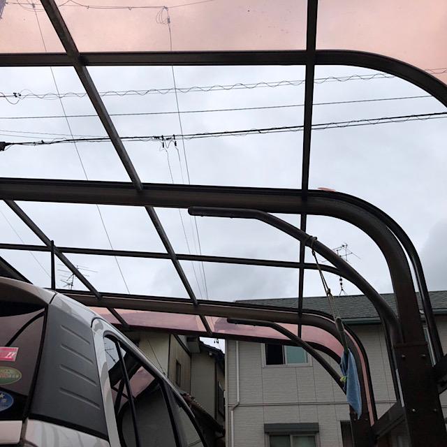 羽島市で台風でカーポートの屋根が破損
