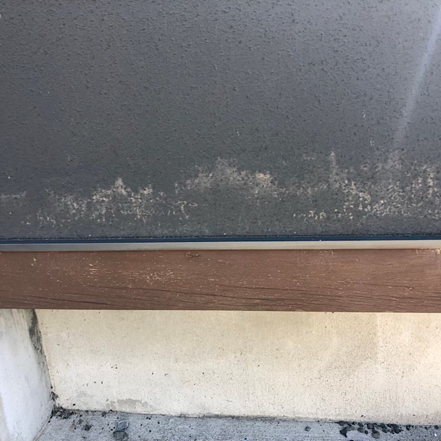 吹き付けの外壁の劣化