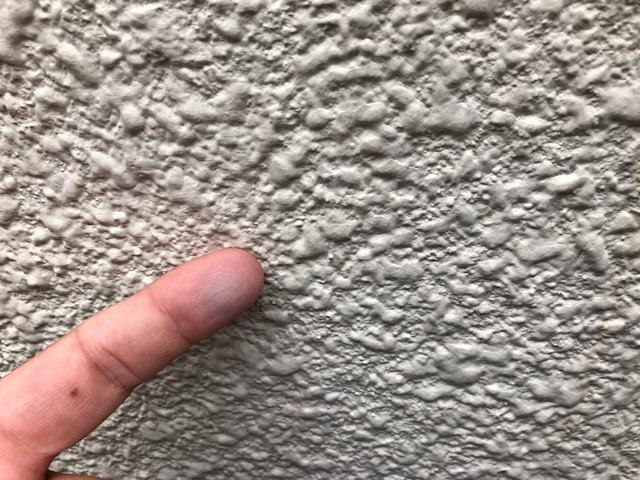 外壁のチョーキング現象の写真