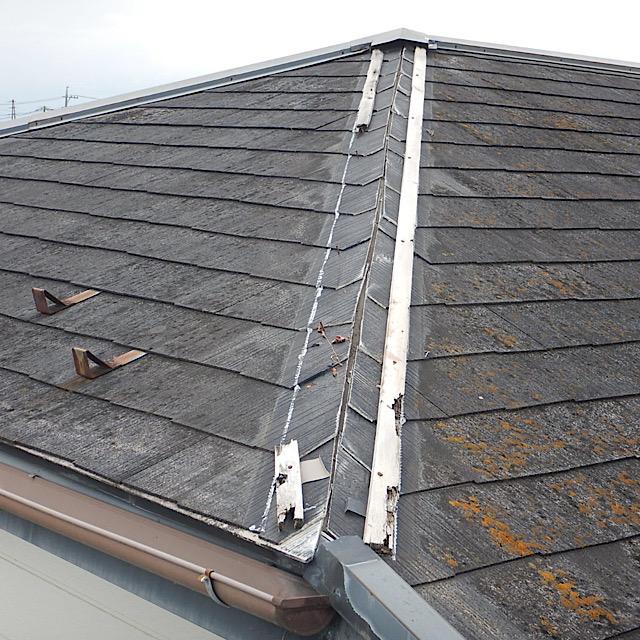 カラーベストの屋根の板金が飛んだ