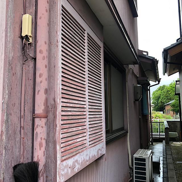 木製の戸箱の劣化