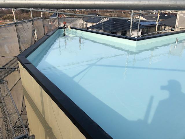 岐阜市で屋上の防水工事が完成しました