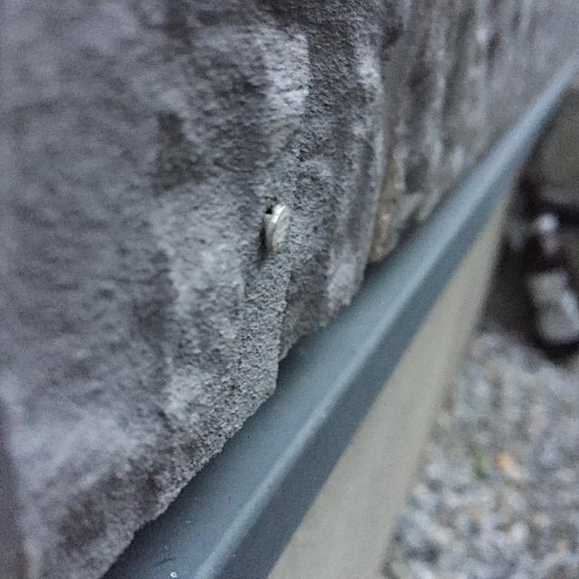 サイディングの釘が浮いた写真